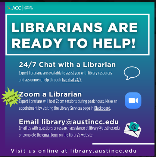 Librarians are ready to help!