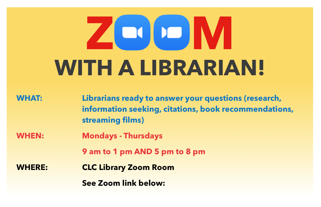 CLC Library Zoom Room Flyer