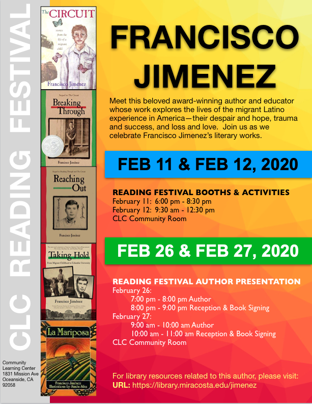 Francisco Jimenez Reading Festival Poster