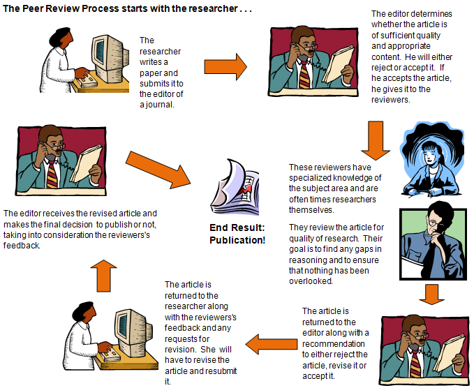 Infographic of the Peer Review cycle