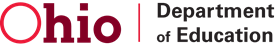 Logo for and link to the ohio department of education