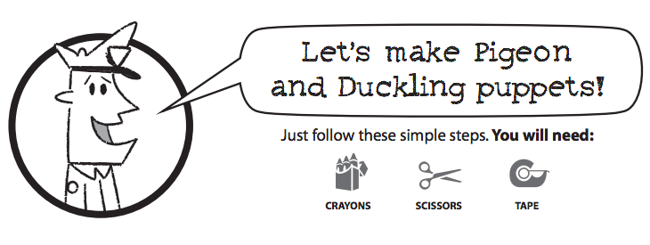 Let's Make Pigeon and Duckling Finger Puppets
