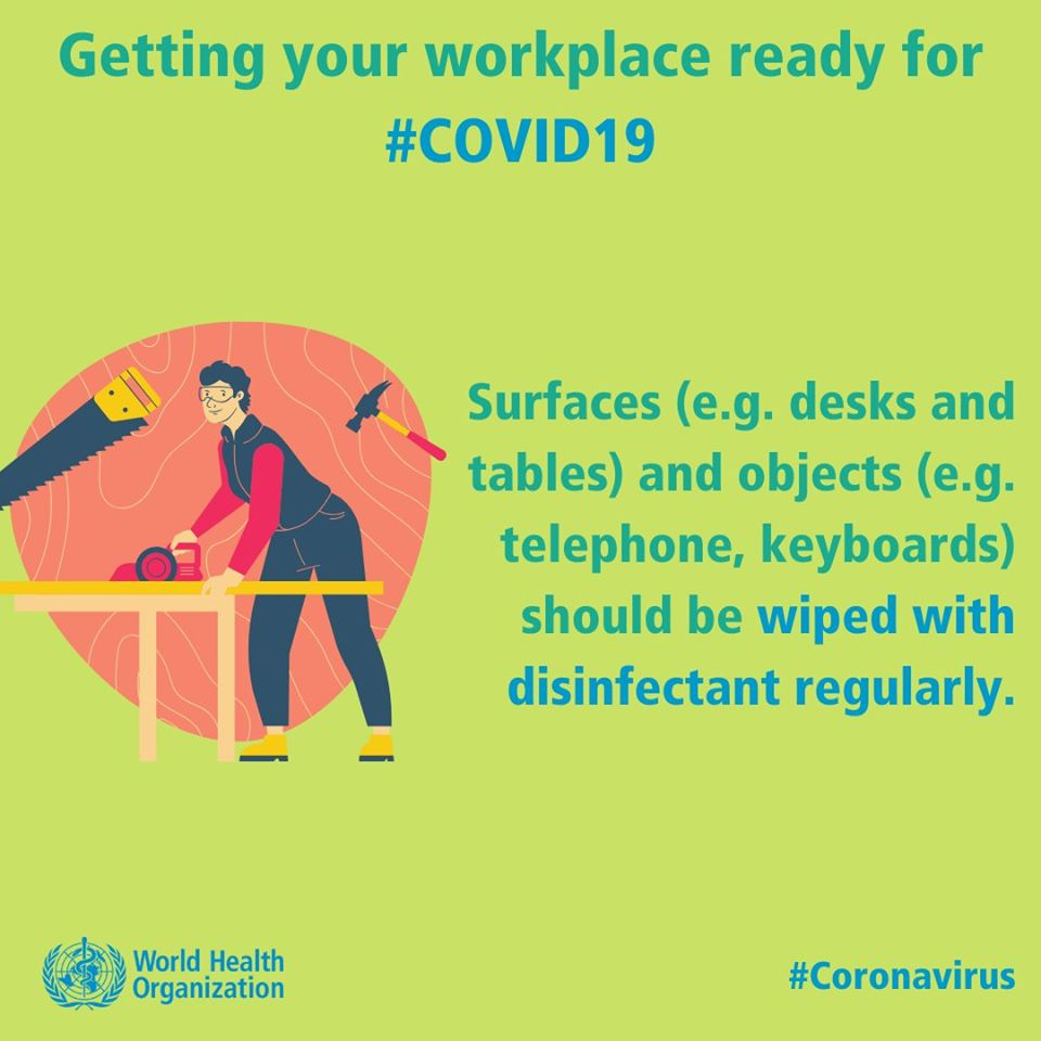 Getting your workplace ready for #COVID19