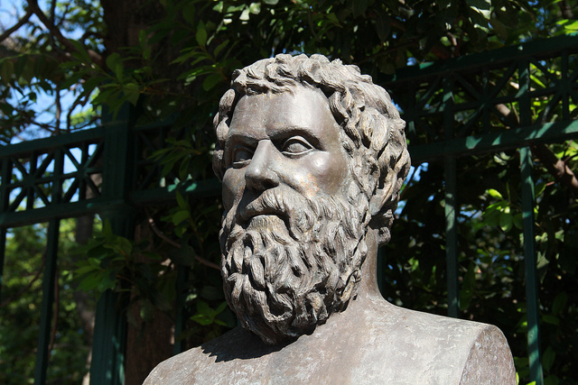 photo of bust of Sophocles
