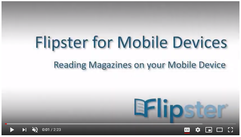 screenshot of Flipster tutorial for mobile devices
