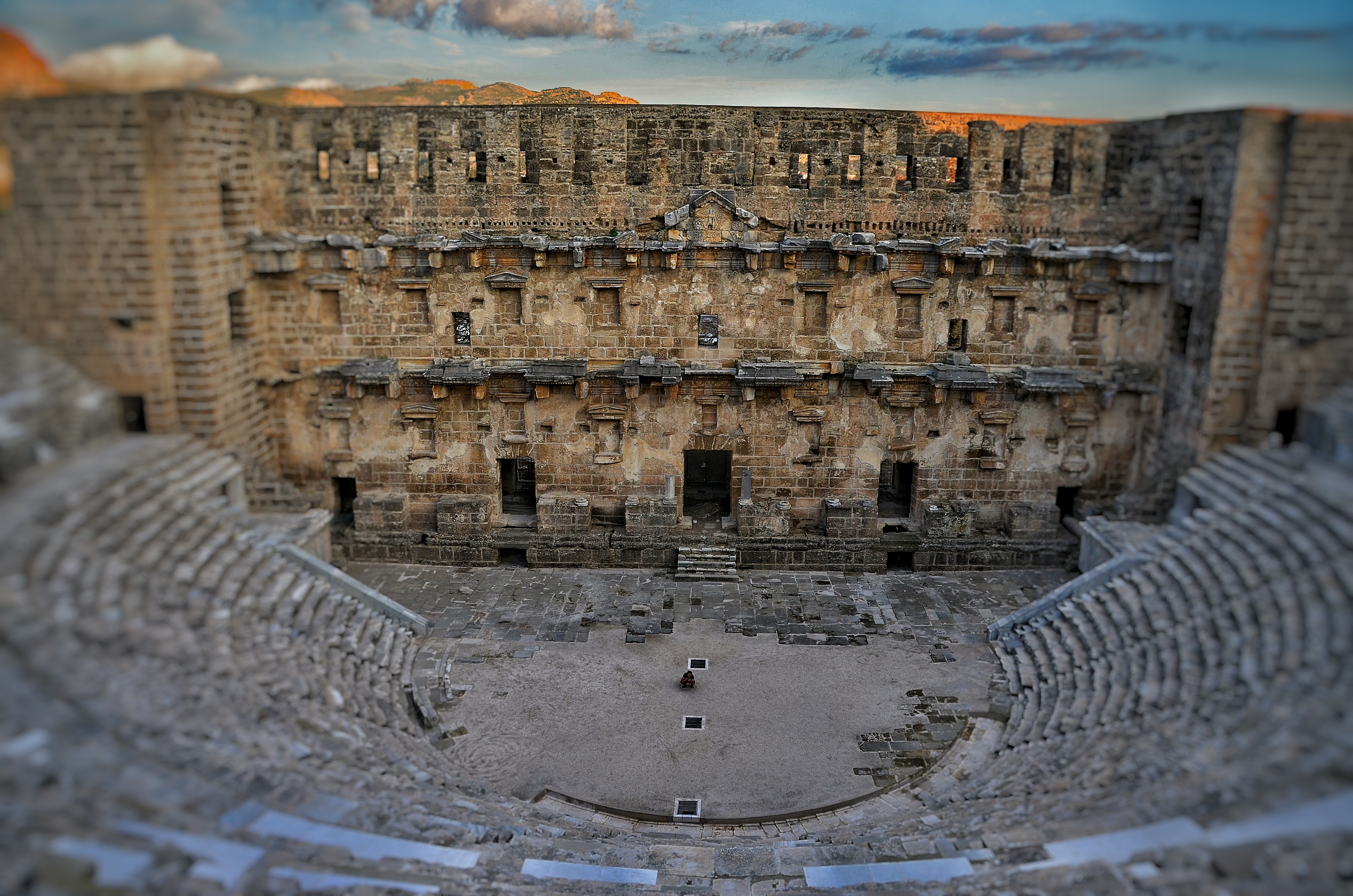 photo of Aspendos, an ancient theater in Turkey