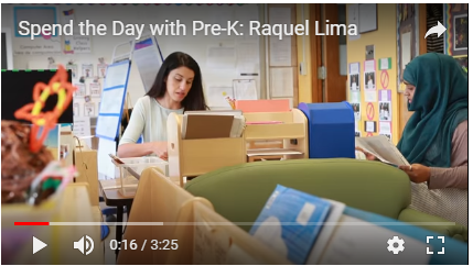 screenshot of youtube video about a day in the life of a preschool teacher