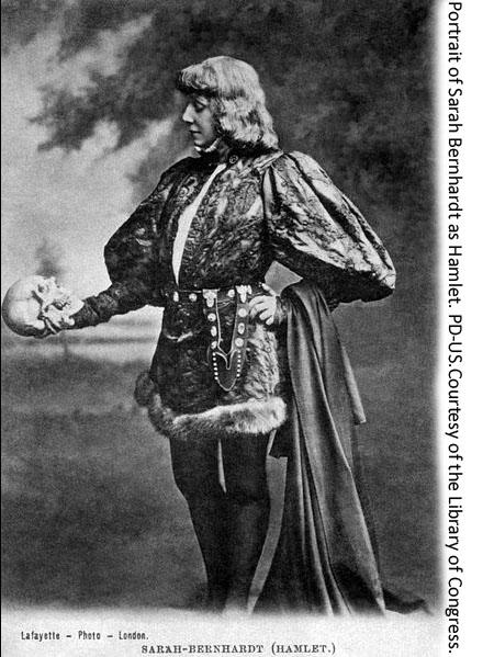 Sarah Bernhardt as Hamlet.