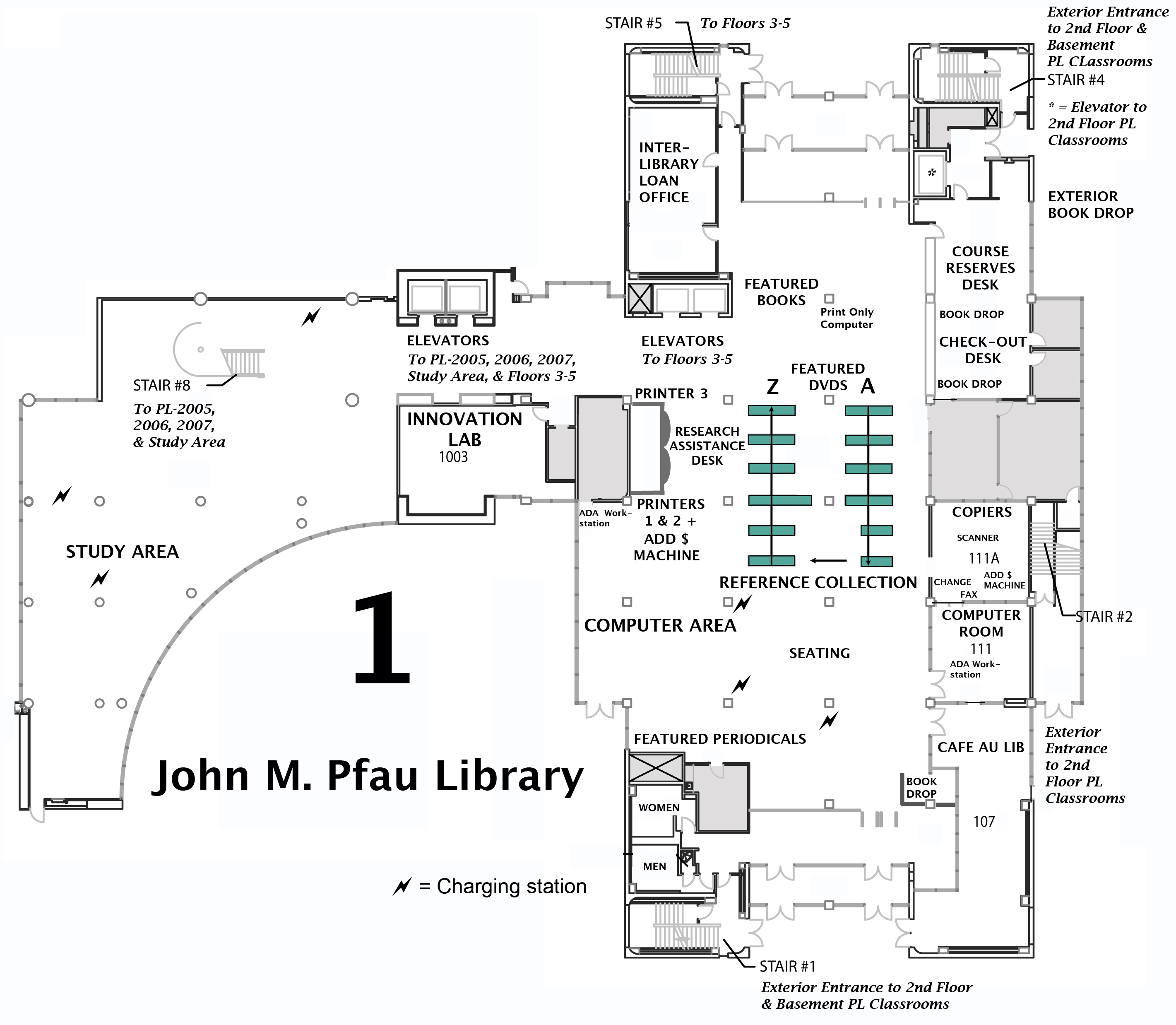Map, 1st floor.