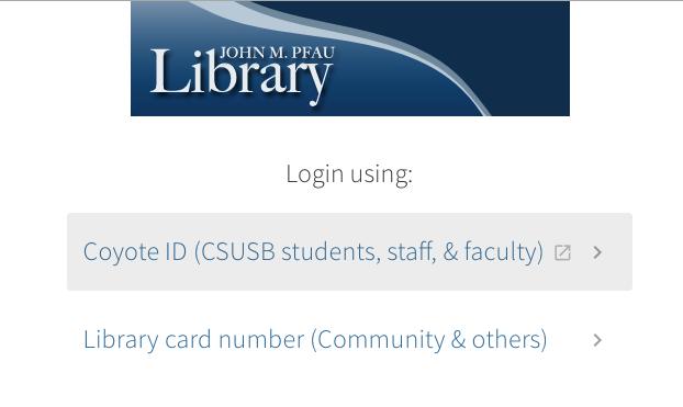 Screenshot of first login screen.