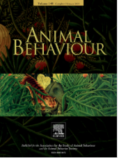 Cover of the scholarly journal, Animal Behavior.