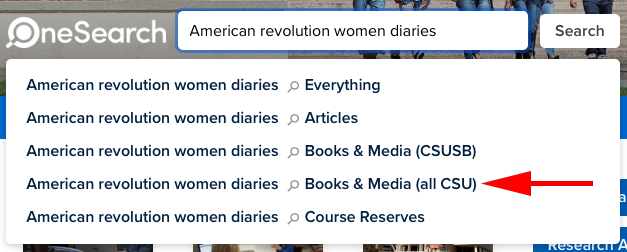A search for American revolution women diaries.