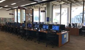 Computer area near Research Assistance Desk.