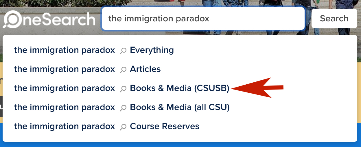 OneSearch - The Immigration Paradox - Books & Media CSUSB