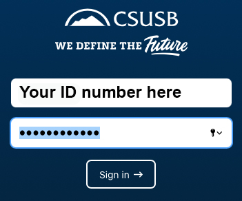 Your ID number and password.