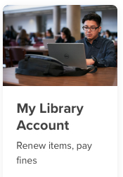 The My Library Account button.