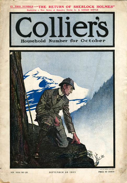 Sherlock Holmes on the cover of Collier's.