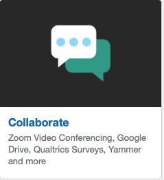 Collaborate: Zoom Video Conferencing, etc.
