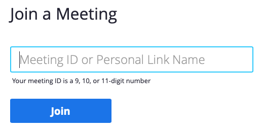Enter the meeting ID number here.