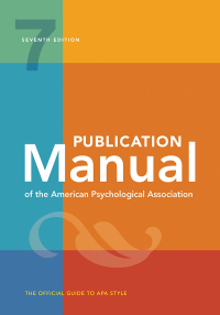 Cover of APA Manual, 7th edition (2019)