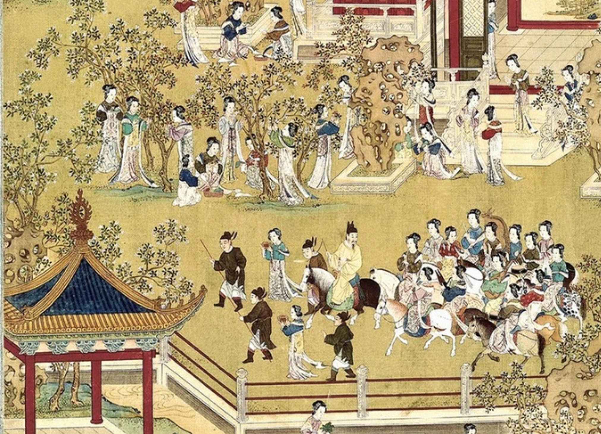 ife of Chinese Emperors. Chinese art. Qing period Wall Art