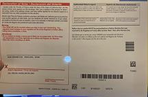Ballot envelope back - where you sign