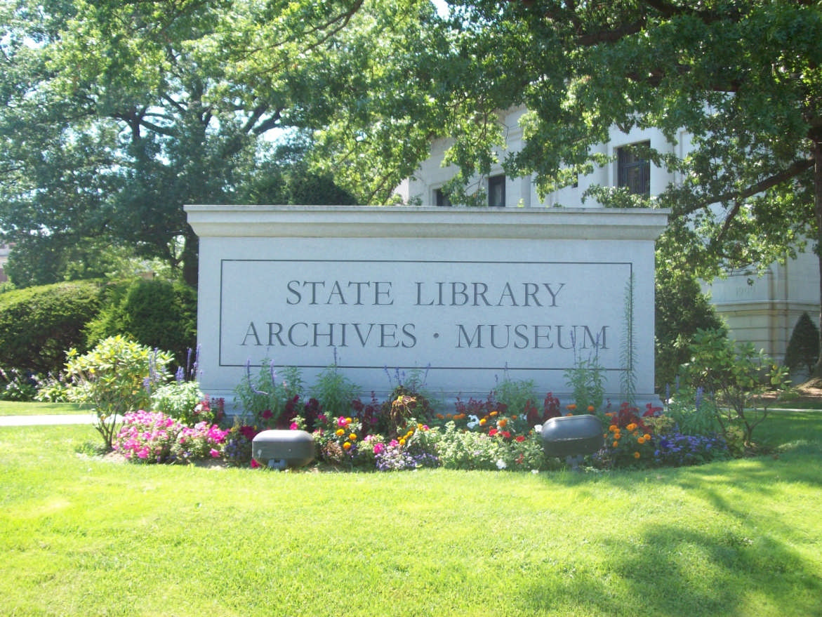 State Library Archives - Museum sign