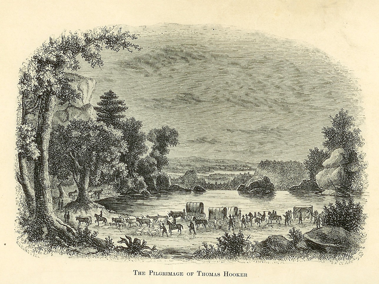 Thomas Hooker's Journey to Connecticut