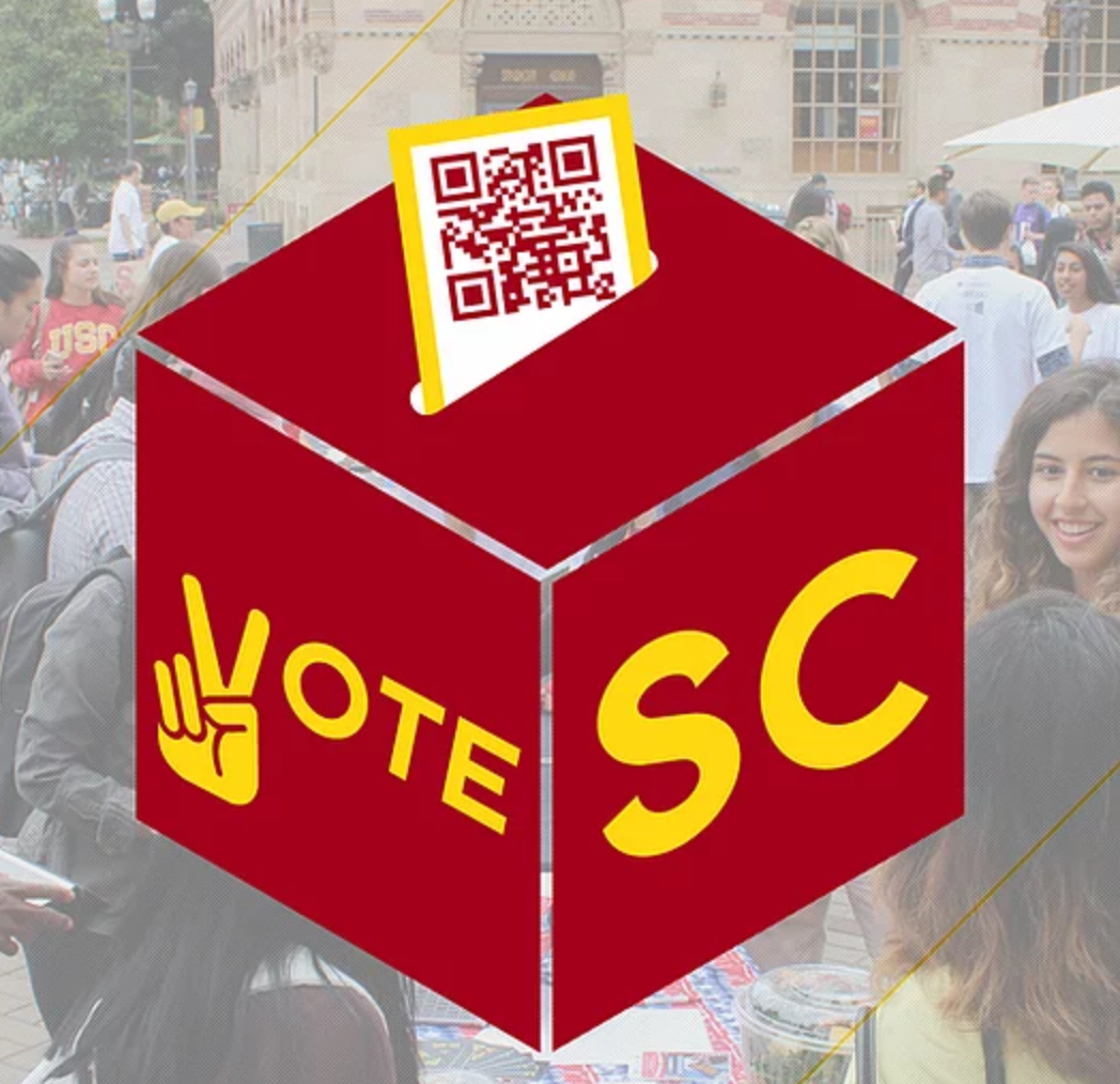 "ballot box with the words ""VoteSC"""