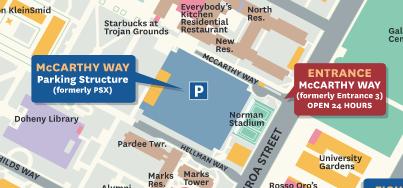USC map McCarthy Way