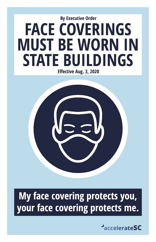 Face Coverings Required in State Buildings