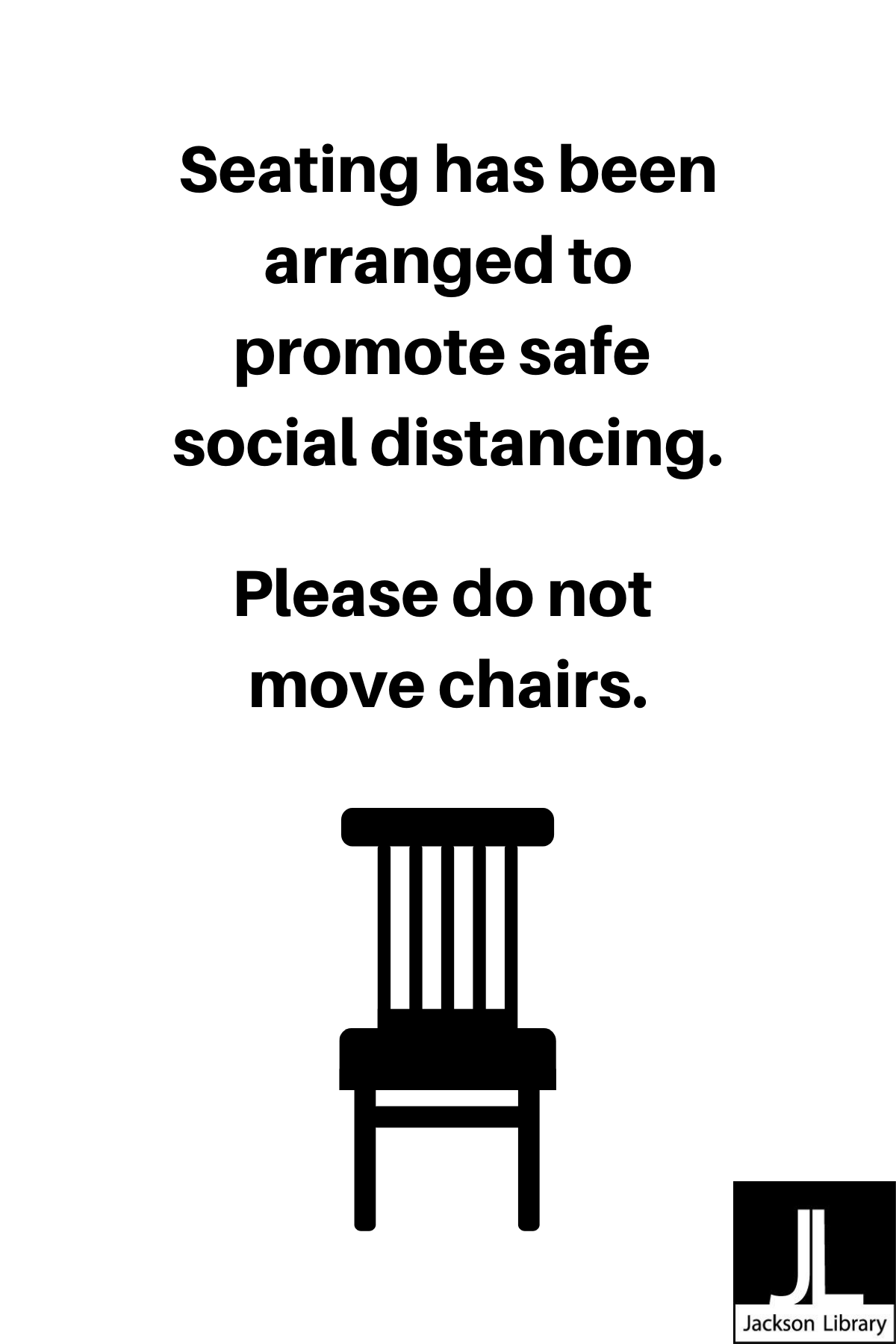 Please Do Not Move Chairs