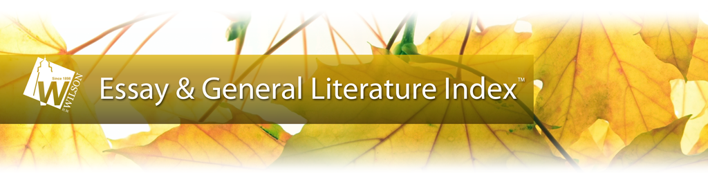 Essay and General Literature Index Logo Button