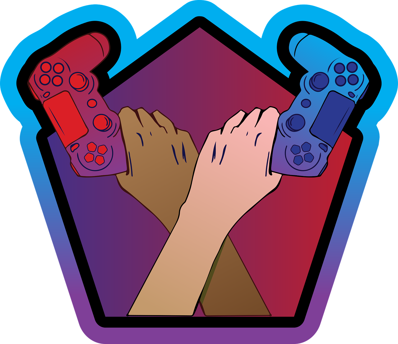 Two Hands with Game Controllers