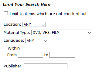 Advanced search for films
