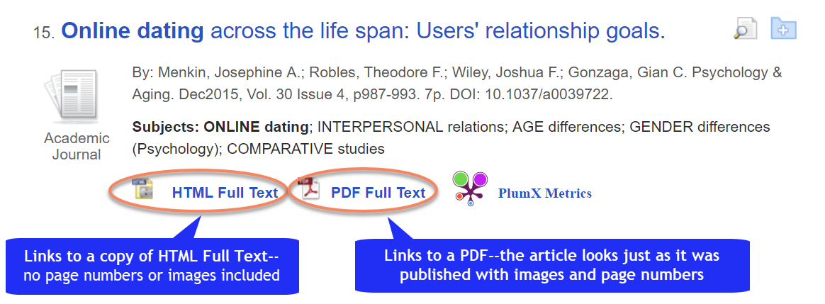 HTML and PDF links in a database graphic