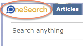 Graphic of OneSearch search box