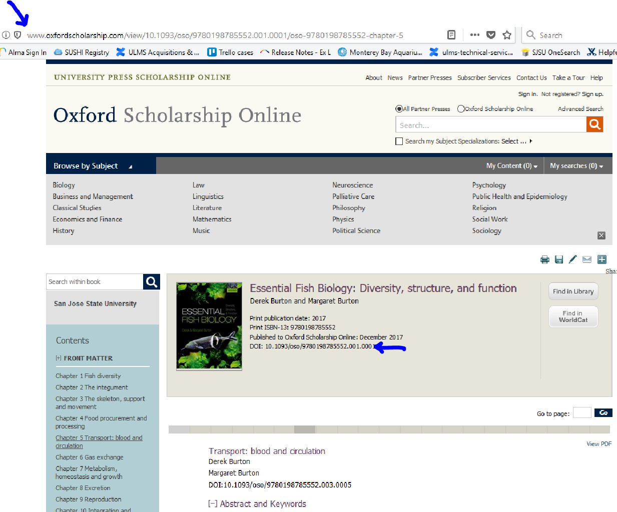 Permalink for Oxford ebook using address in browser
