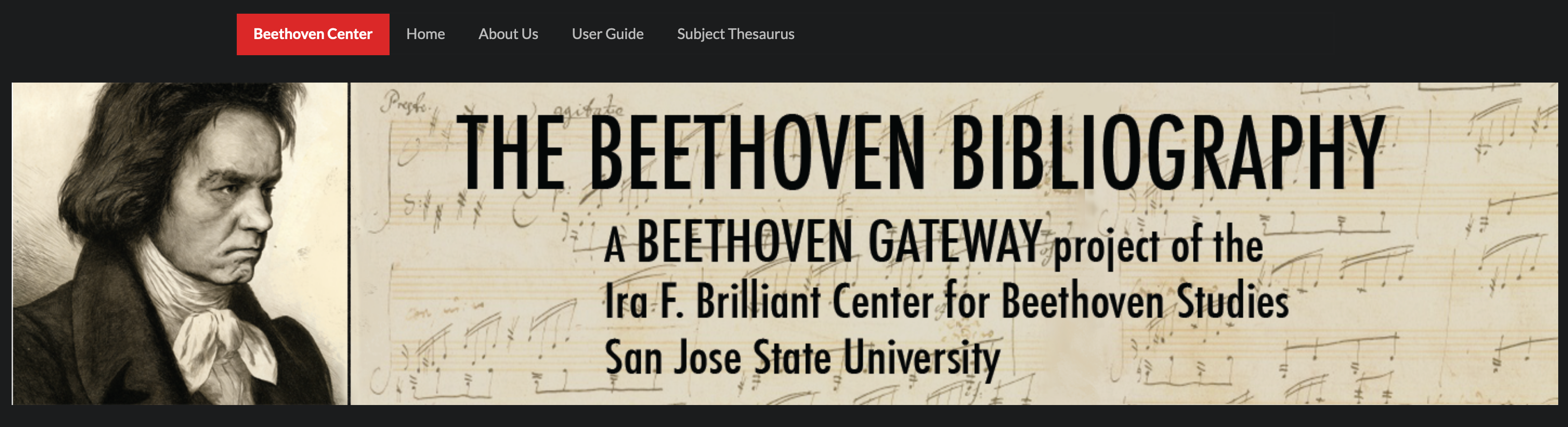 Banner for the Beethoven Bibliography Database