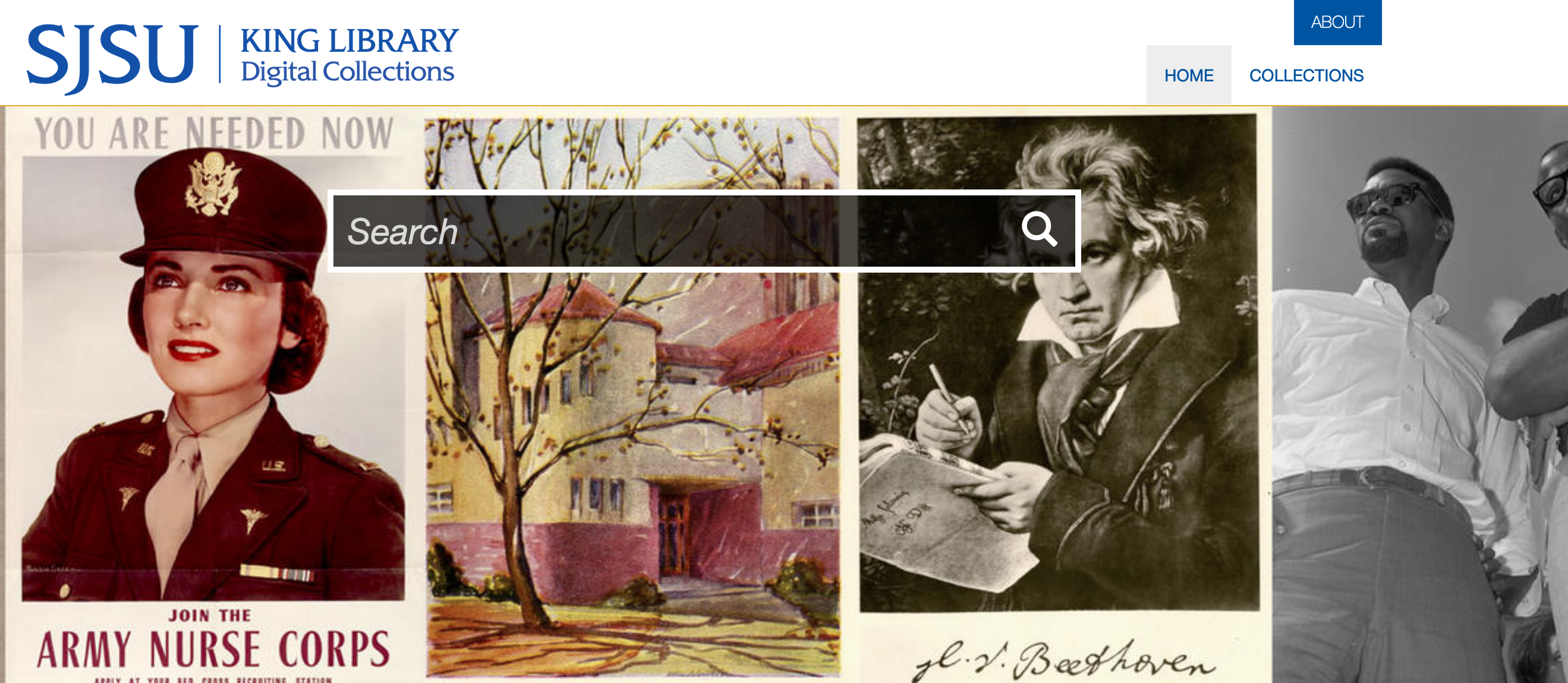 Home page of Digital Collections