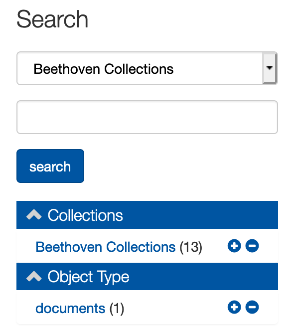 Limit to Beethoven collections in facet area