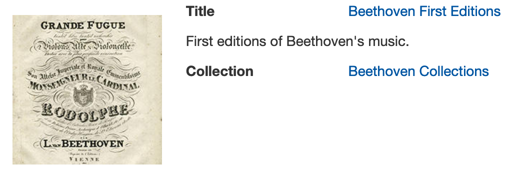 Digital first editions of Beethoven's works