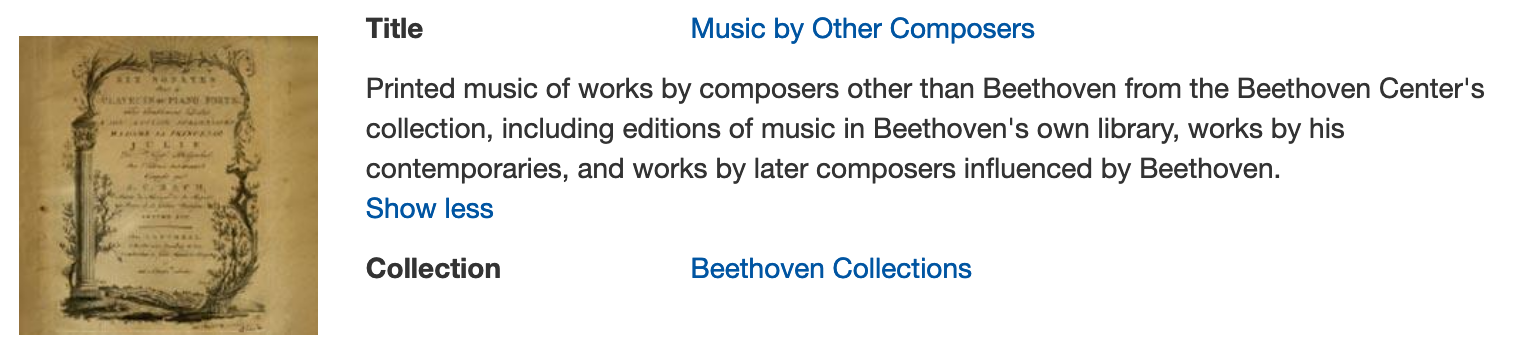 Digital scores of composers other than Beethoven