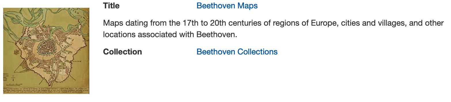 Maps in Beethoven digital collections