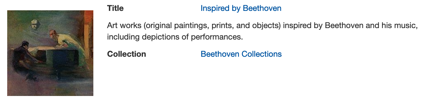 Art works inspired by Beethoven in digital collections
