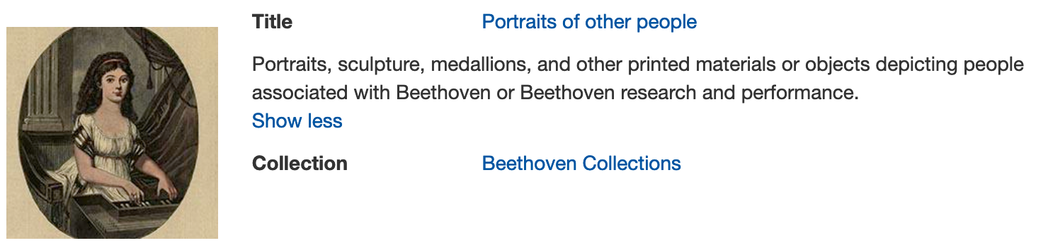 Portraits of other people in Beethoven digital collections