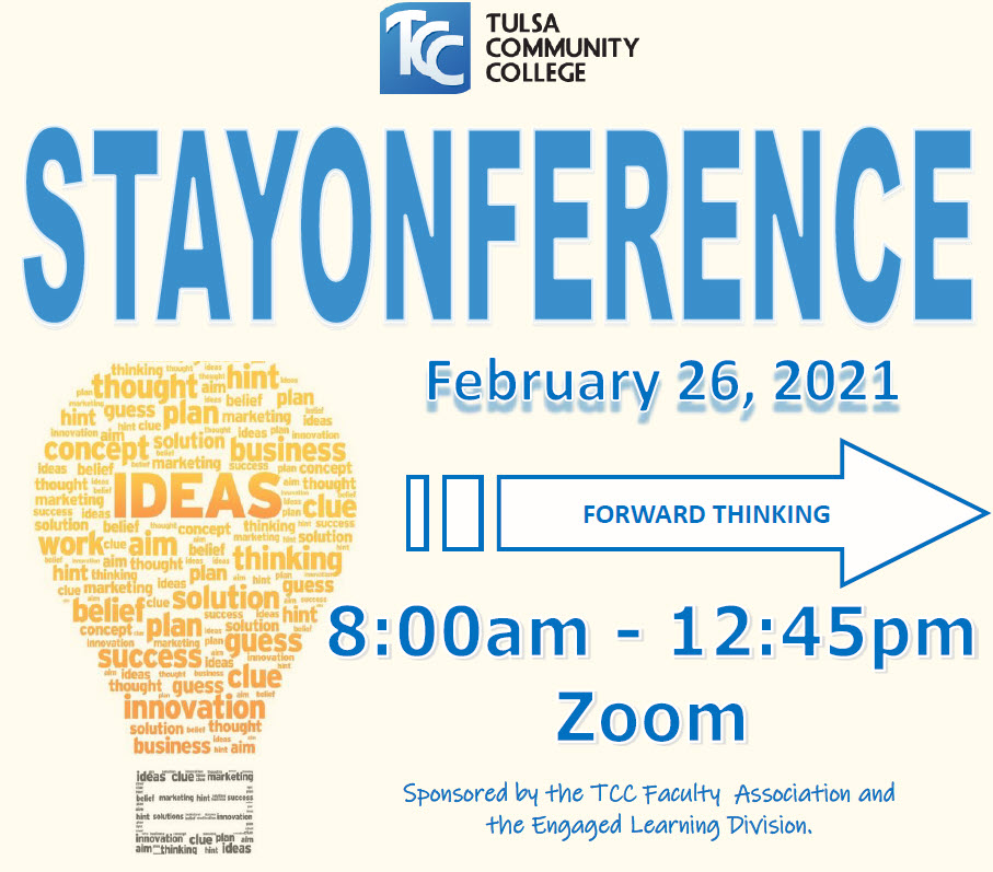 Stayonference 2021: Forward Thinking on Feb 26, 2021, from 8am-12:45pm on Zoom