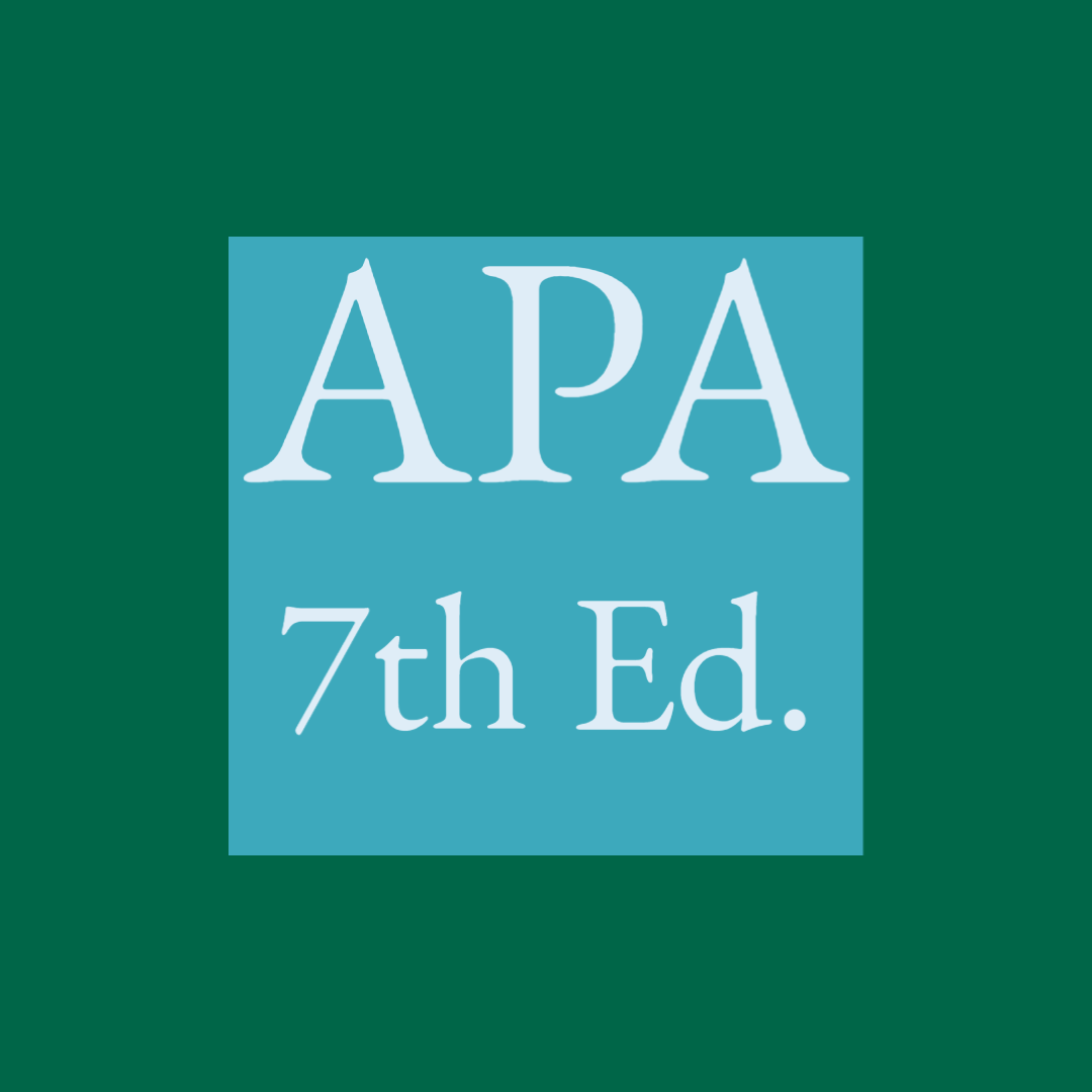 APA 7th edition