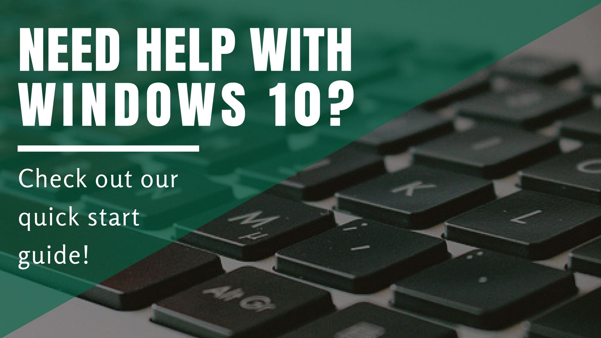 Windows 10 Quick Start Guide