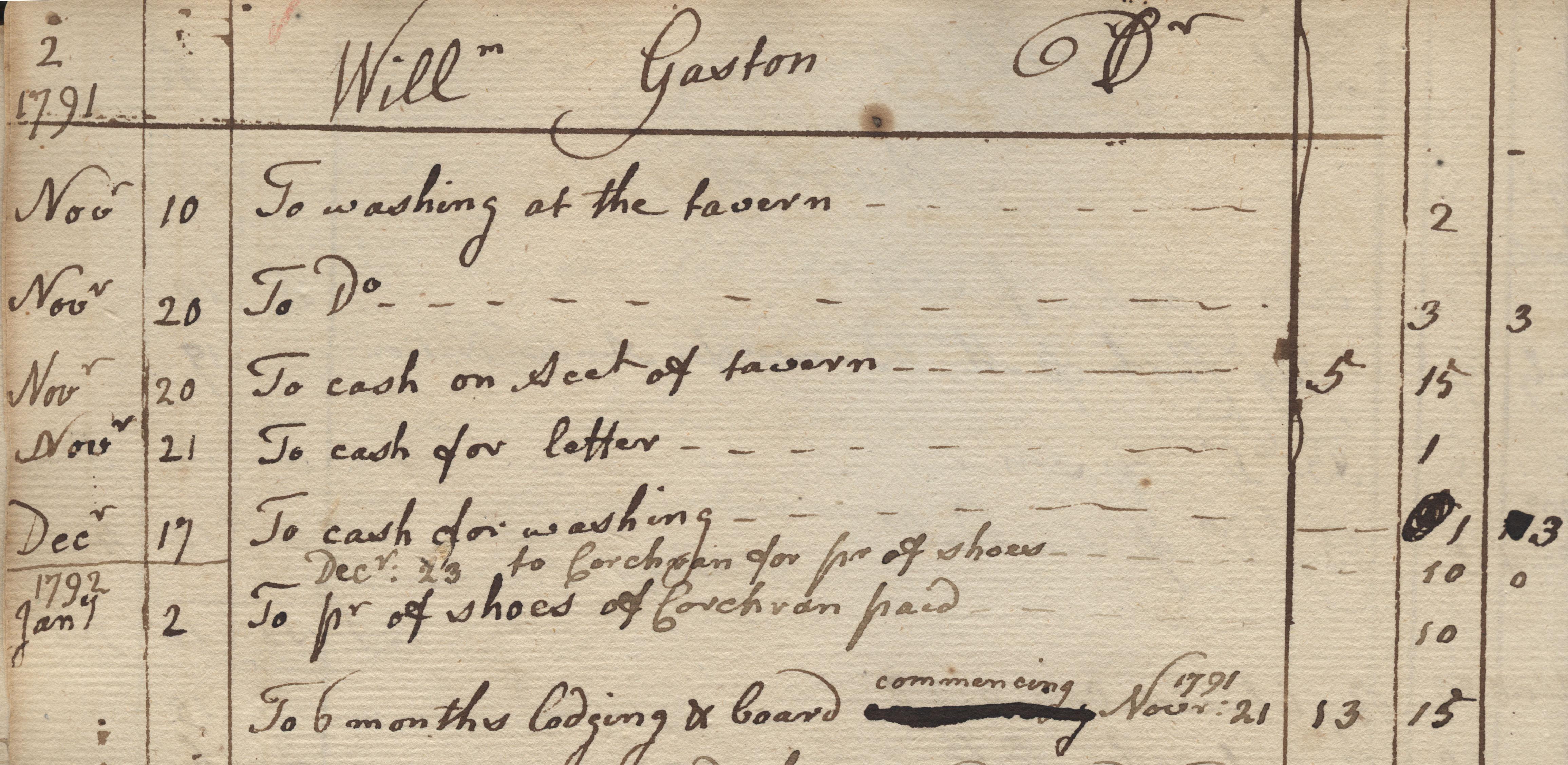 William Gaston account